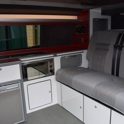 T5 Full Camper Conversion with RIB Bed in White & Claret gloss
