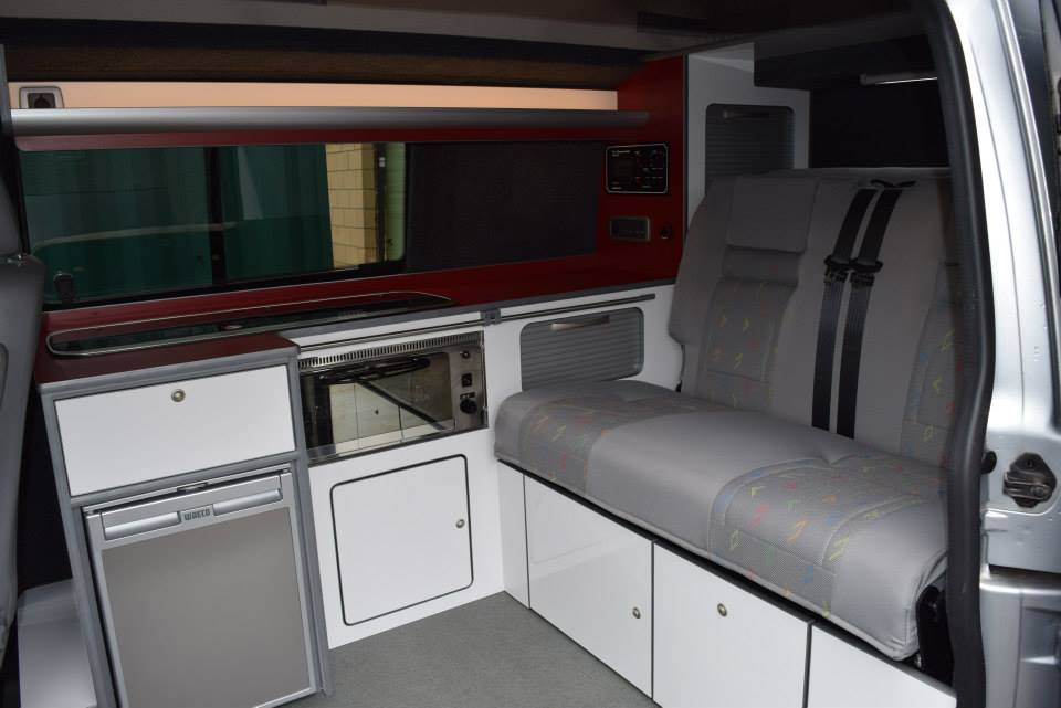 T5 Full Camper Conversion With Rib Bed In White Amp Claret