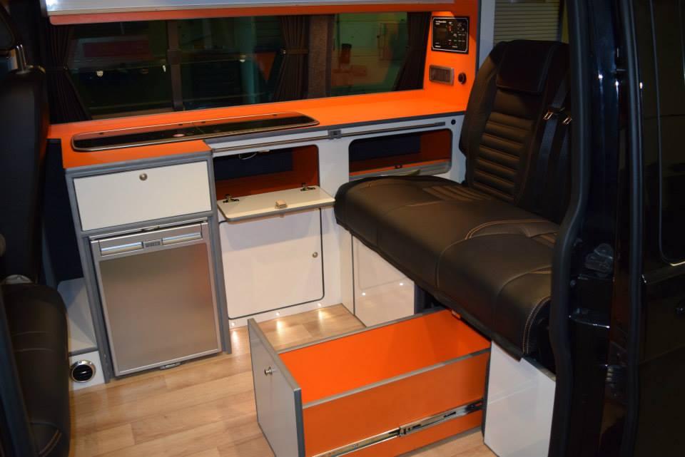 Factory Kombi Conversion White, Orange & Black with RIB drawer 1