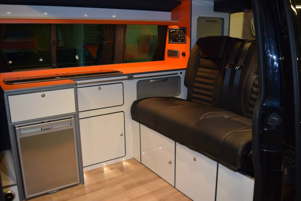 Factory Kombi Conversion White, Orange & Black with RIB drawer 4