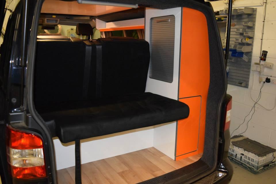 Factory Kombi Conversion White, Orange & Black with RIB drawer 5