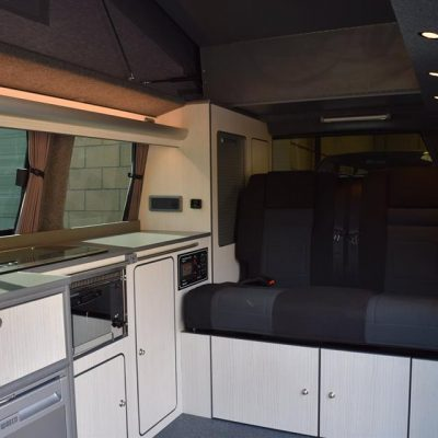 VW T6 LWB Conversion with double passenger swivel